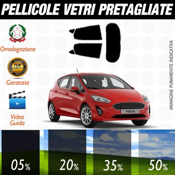 Ford Fiesta 5P dal 2017 ad OGGI Pellicole Oscuramento Vetri Posteriori Auto Pre Tagliate a Misura Plotter