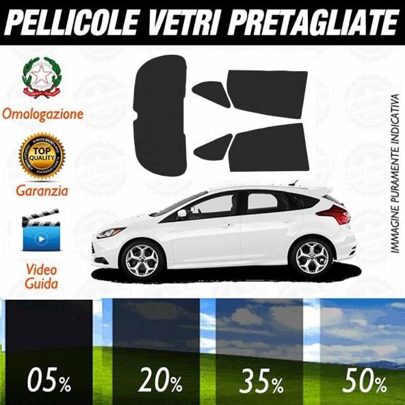 Ford Focus 13-15 Pellicole Oscuramento Vetri Auto Pre Tagliate