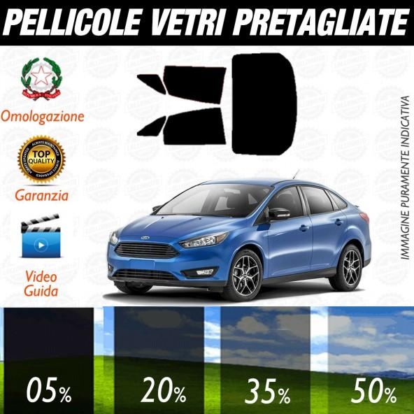 Ford Focus Berlina dal 2011 ad OGGI Pellicole Oscuramento Vetri Posteriori Auto Pre Tagliate a Misura
