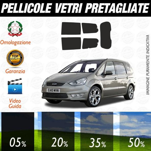 Ford Galaxy dal 2006 al 2009 Pellicole Oscuramento Vetri Posteriori Auto Pre Tagliate a Misura