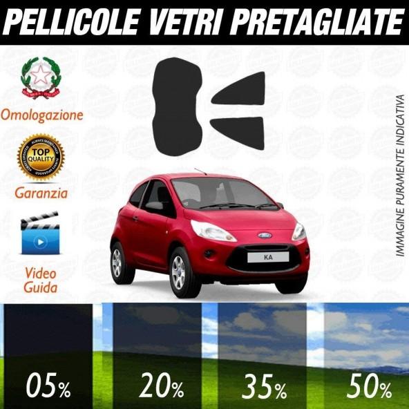 Ford Ka dal 2008 al 2010 Pellicole Oscuramento Vetri Posteriori Auto Pre Tagliate a Misura