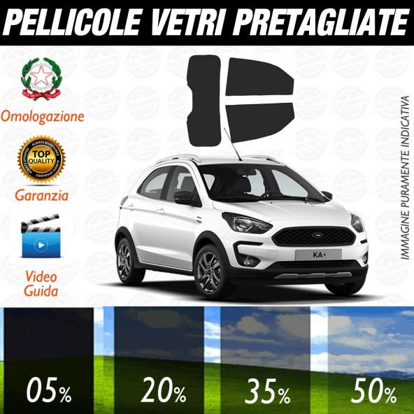 Ford Ka+ dal 2016 ad OGGI Pellicole Oscuramento Vetri Posteriori Auto Pre Tagliate a Misura