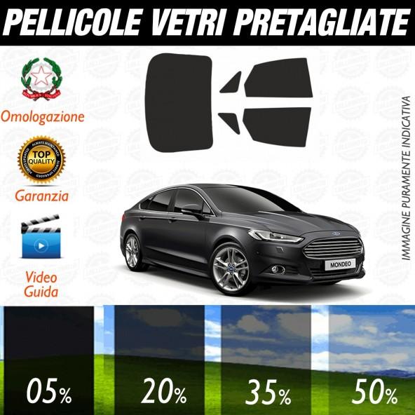 Ford Mondeo Berlina 5P dal 2015 ad OGGI Pellicole Oscuramento Vetri Posteriori Auto Pre Tagliate a Misura