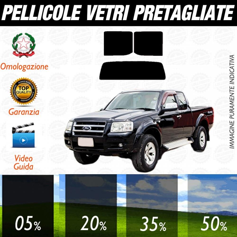 Ford Ranger 4P dal 2007 al 2008 Pellicole Oscuramento Vetri Posteriori Auto Pre Tagliate a Misura
