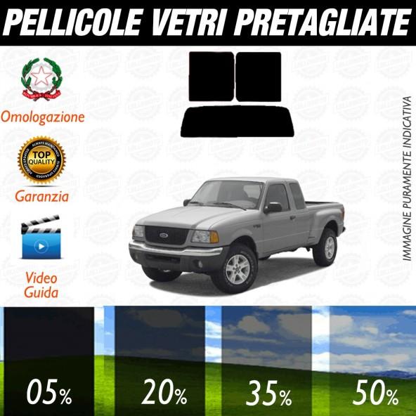 Ford Ranger 4P dal 2001 al 2006 Pellicole Oscuramento Vetri Posteriori Auto Pre Tagliate a Misura
