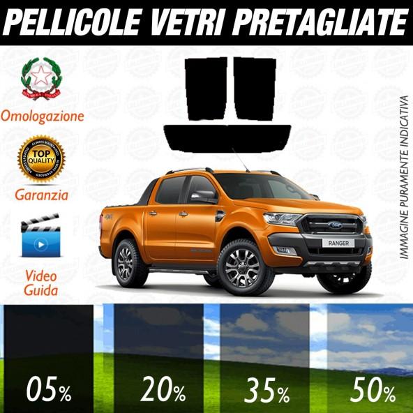 Ford Ranger Wild Track dal 2016 ad OGGI Pellicole Oscuramento Vetri Posteriori Auto Pre Tagliate a Misura