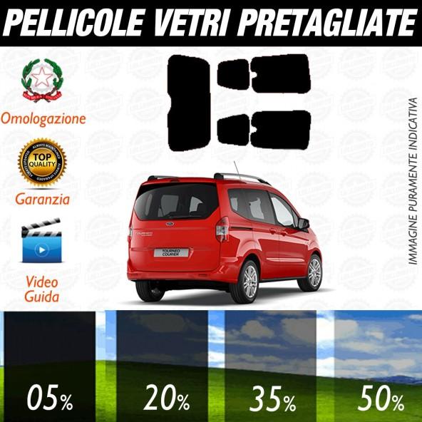 Ford Torneo Courrier dal 2015 al 2016 Pellicole Oscuramento Vetri Posteriori Auto Pre Tagliate a Misura Plotter