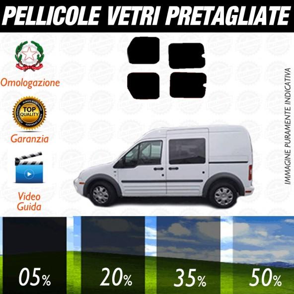 Ford Transit Connect dal 2002 al 2009 Pellicole Oscuramento Vetri Posteriori Auto Pre Tagliate a Misura Plotter