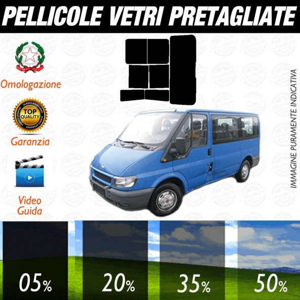 Ford Transit Tourneo dal 2003 al 2006 Pellicole Oscuramento Vetri Posteriori Auto Pre Tagliate a Misura Plotter