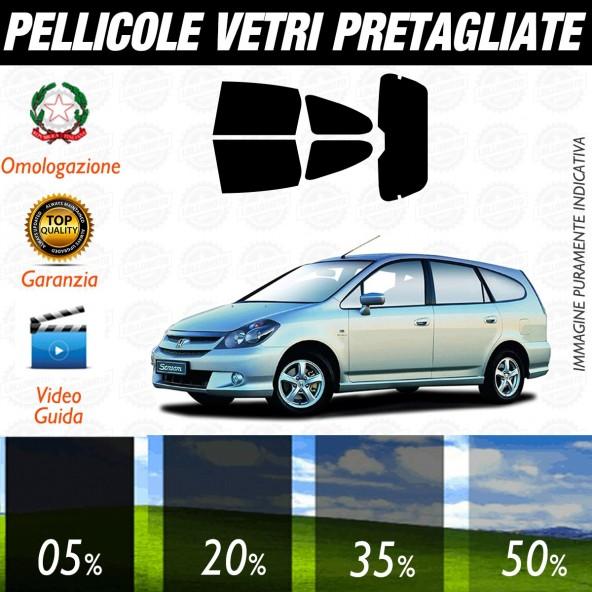 Honda Stream dal 2002 al 2006 Pellicole Oscuramento Vetri Auto Pre Tagliate a Misura