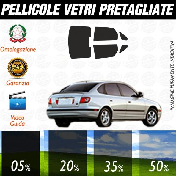 Hyundai Elantra 4P dal 2001 al 2006 Pellicole Oscuramento Vetri Auto Pre Tagliate a Misura
