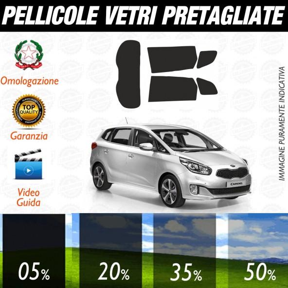Kia Carens dal 2013 ad OGGI Pellicole Oscuramento Vetri Auto Pre Tagliate a Misura