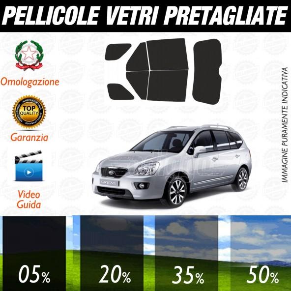 Kia Carens dal 2006 al 2012 Pellicole Oscuramento Vetri Auto Pre Tagliate a Misura