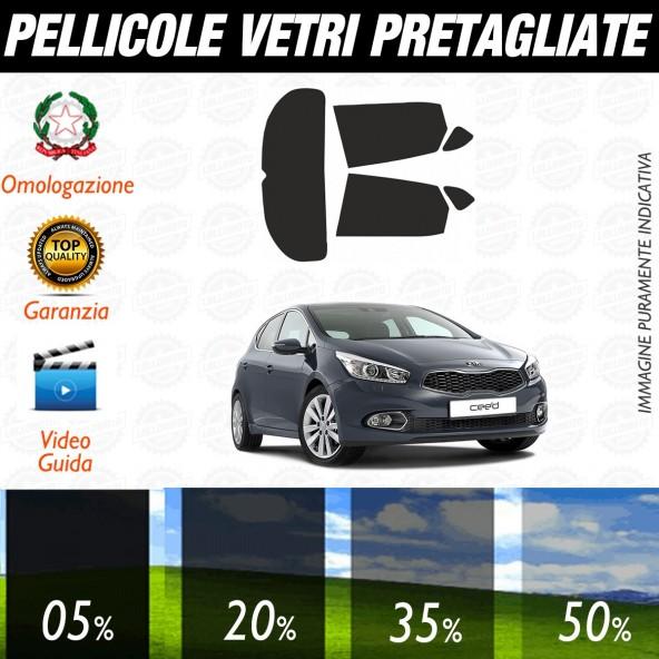 Kia Ceed 5P dal 2012 ad OGGI Pellicole Oscuramento Vetri Auto Pre Tagliate a Misura