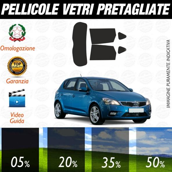 Kia Ceed 5P dal 2008 al 2010 Pellicole Oscuramento Vetri Auto Pre Tagliate a Misura