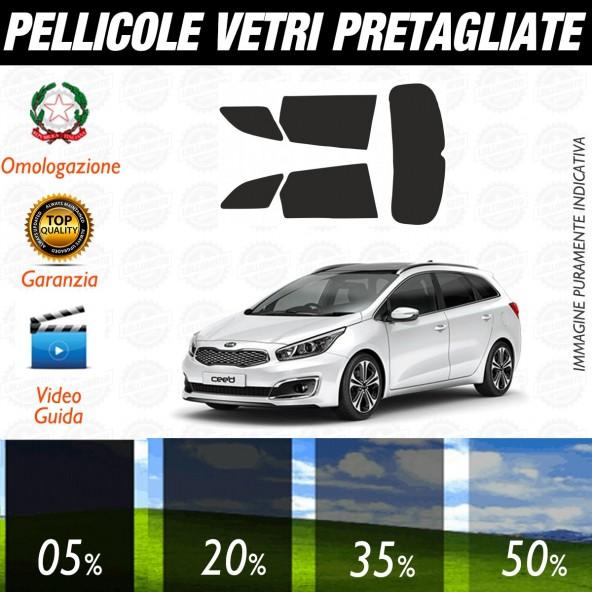 Kia Ceed Sw dal 2012 ad OGGI Pellicole Oscuramento Vetri Auto Pre Tagliate a Misura