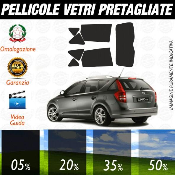 Kia Ceed Sw dal 2006 al 2012 Pellicole Oscuramento Vetri Auto Pre Tagliate a Misura
