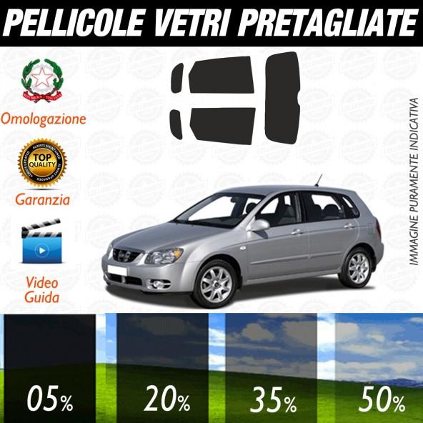 Kia Cerato 5P dal 2004 al 2006 Pellicole Oscuramento Vetri Auto Pre Tagliate a Misura
