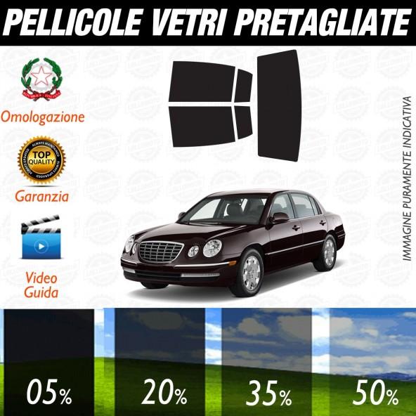 Kia Opirus dal 2009 ad OGGI Pellicole Oscuramento Vetri Auto Pre Tagliate a Misura