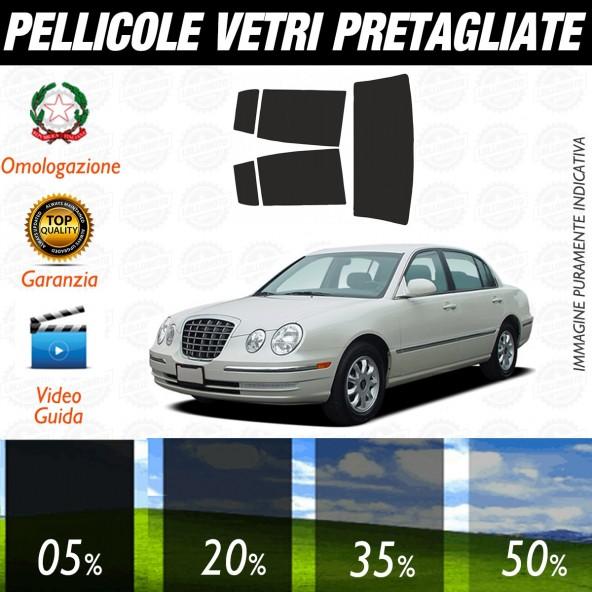 Kia Opirus dal 2003 al 2006 Pellicole Oscuramento Vetri Auto Pre Tagliate a Misura