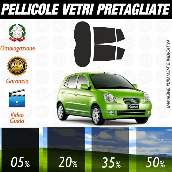 Kia Picanto dal 2004 al 2006 Pellicole Oscuramento Vetri Auto Pre Tagliate a Misura