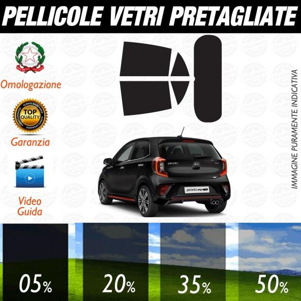 Kia Picanto 5P dal 2017 ad OGGI Pellicole Oscuramento Vetri Auto Pre Tagliate a Misura