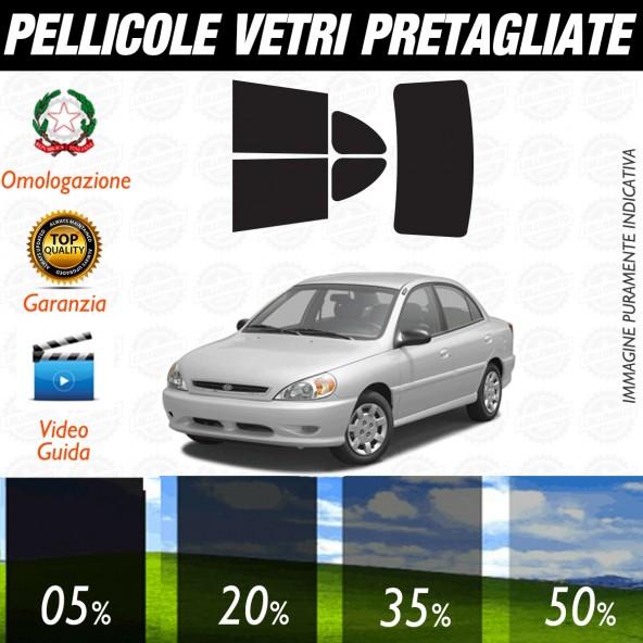 Kia Rio dal 2002 al 2004 Pellicole Oscuramento Vetri Auto Pre Tagliate a Misura