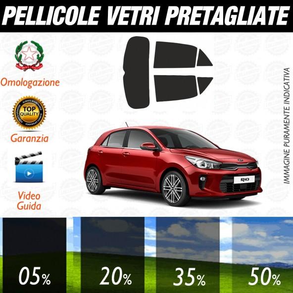 Kia Rio 5P dal 2017 ad OGGI Pellicole Oscuramento Vetri Auto Pre Tagliate a Misura