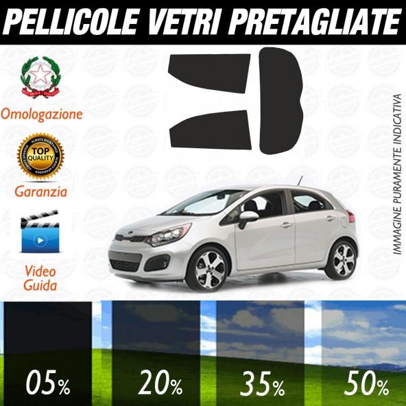 Kia Rio 5P dal 2011 al 2017 Pellicole Oscuramento Vetri Auto Pre Tagliate a Misura