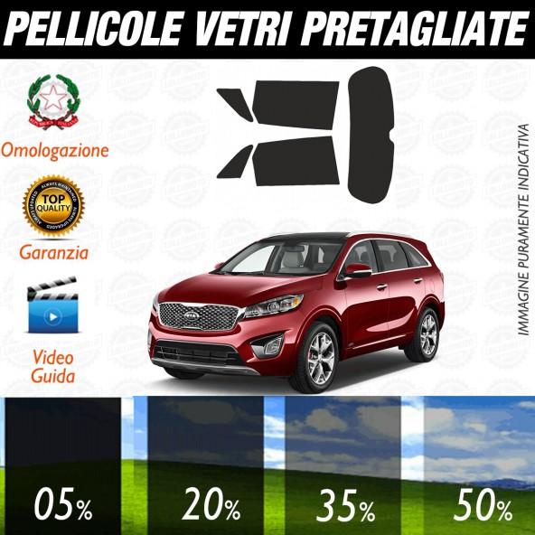Kia Sorento dal 2010 ad OGGI Pellicole Oscuramento Vetri Auto Pre Tagliate a Misura