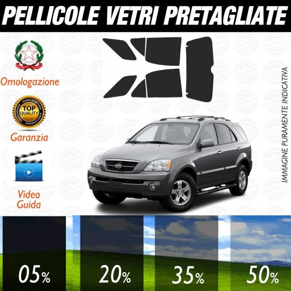 Kia Sorento dal 2002 al 2007 Pellicole Oscuramento Vetri Auto Pre Tagliate a Misura