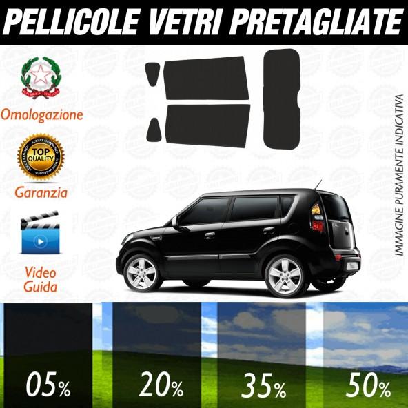 Kia Soul dal 2009 al 2010 Pellicole Oscuramento Vetri Auto Pre Tagliate a Misura