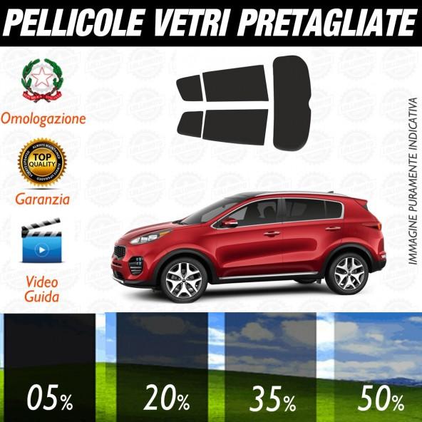 Kia Sportage dal 2016 ad OGGI Pellicole Oscuramento Vetri Auto Pre Tagliate a Misura