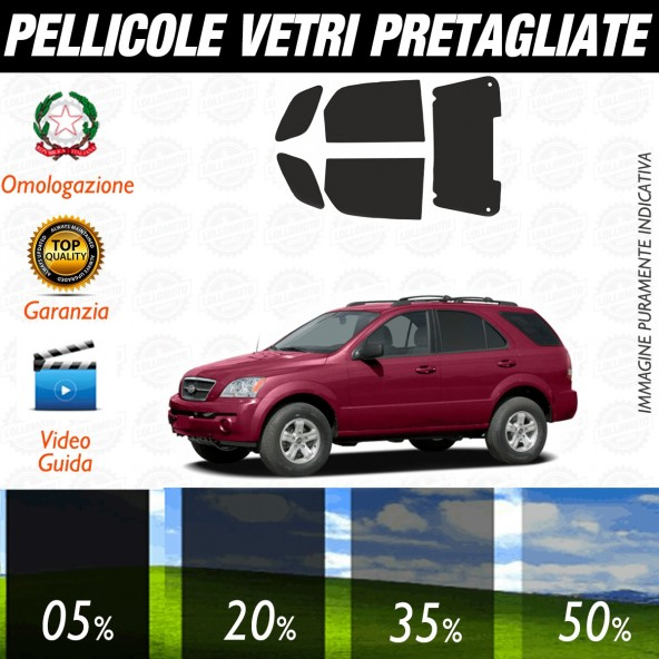 Kia Sportage dal 2004 al 2006 Pellicole Oscuramento Vetri Auto Pre Tagliate a Misura