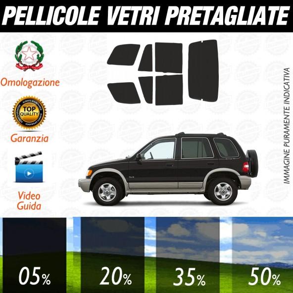Kia Sportage dal 1996 al 2003 Pellicole Oscuramento Vetri Auto Pre Tagliate a Misura
