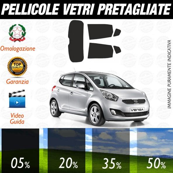 Kia Venga dal 2010 ad OGGI Pellicole Oscuramento Vetri Auto Pre Tagliate a Misura