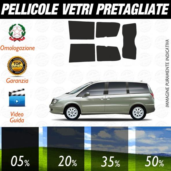 Lancia Phedra dal 2003 ad OGGI Pellicole Oscuramento Vetri Auto Pre Tagliate a Misura