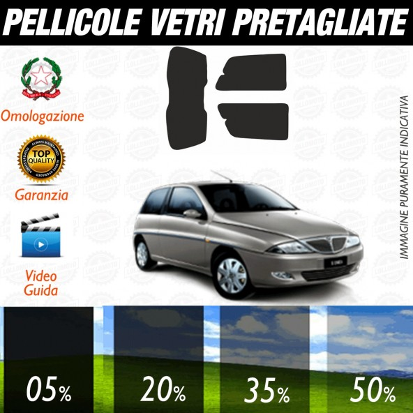 Lancia Y 3P dal 1996 al 2004 Pellicole Oscuramento Vetri Auto Pre Tagliate a Misura