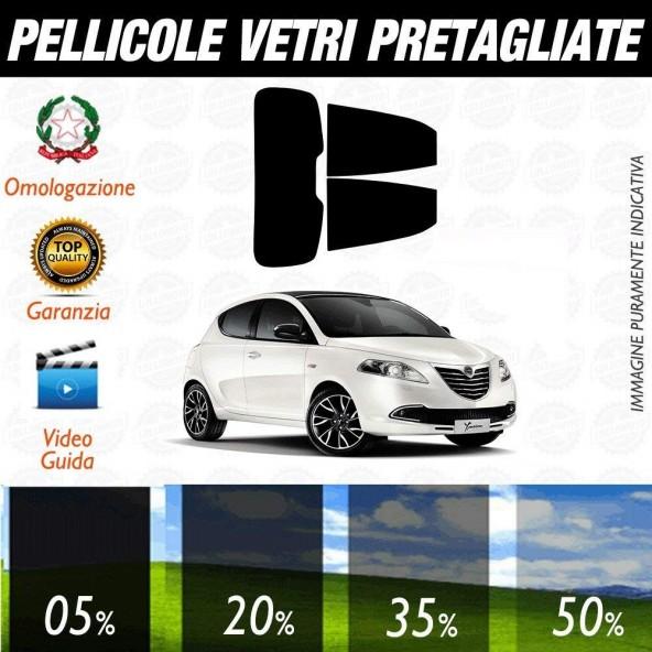 Lancia Ypsilon 5P dal 2011 ad OGGI Pellicole Oscuramento Vetri Auto Pre Tagliate a Misura