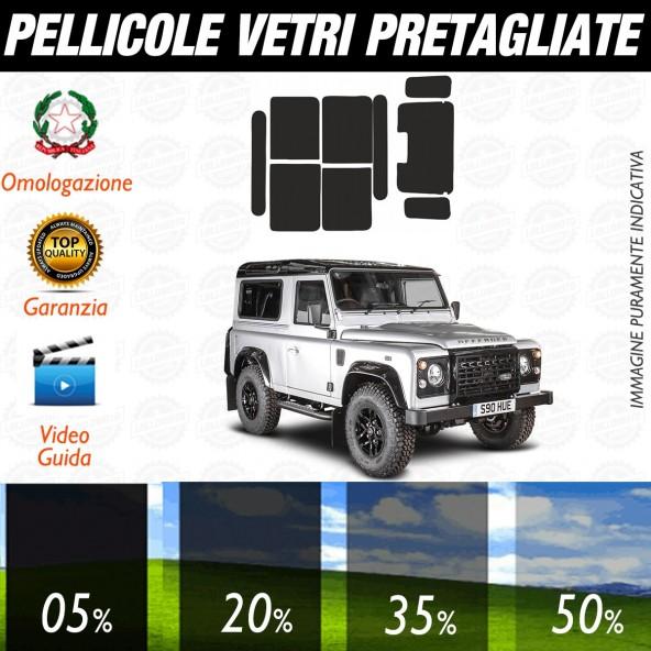 Land Rover Defender 2P dal 2003 al 2009 Pellicole Oscuramento Vetri Auto Pre Tagliate a Misura