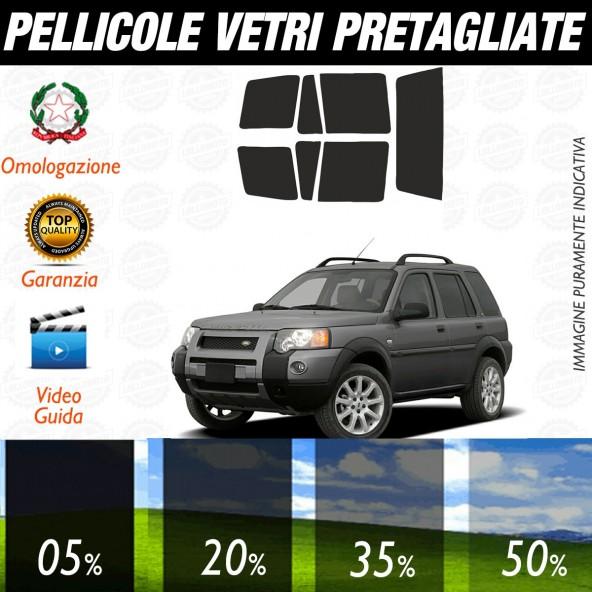Land Rover Freelander 5P dal 1996 al 2006 Pellicole Oscuramento Vetri Auto Pre Tagliate a Misura