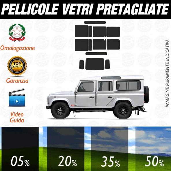 Land Rover LR Defender SW110 dal 1994 al 2009 Pellicole Oscuramento Vetri Auto Pre Tagliate a Misura