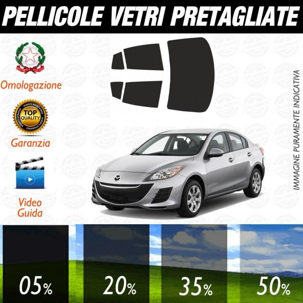 Mazda 3 Berlina dal 2010 ad OGGI Pellicole Oscuramento Vetri Auto Pre Tagliate a Misura
