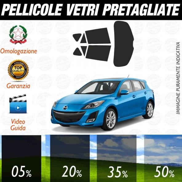 Mazda 3 5P dal 2009 ad OGGI Pellicole Oscuramento Vetri Auto Pre Tagliate a Misura