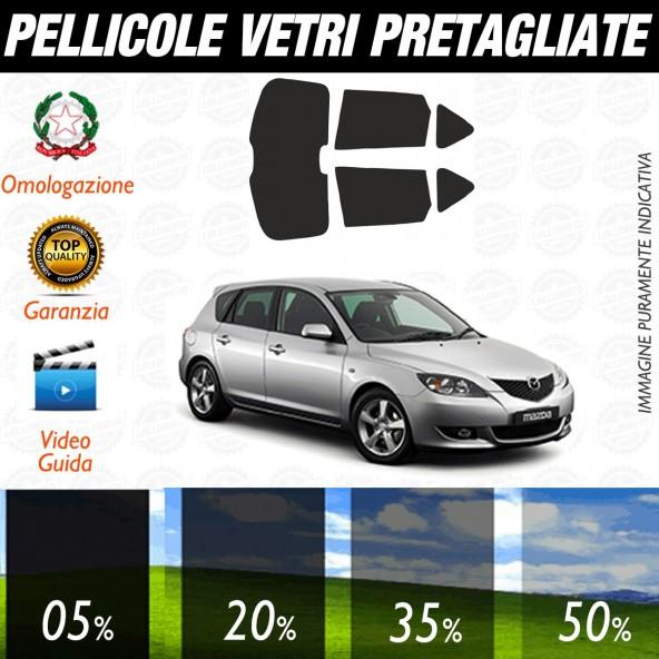 Mazda 3 5P dal 2003 AL 2006 Pellicole Oscuramento Vetri Auto Pre Tagliate a Misura