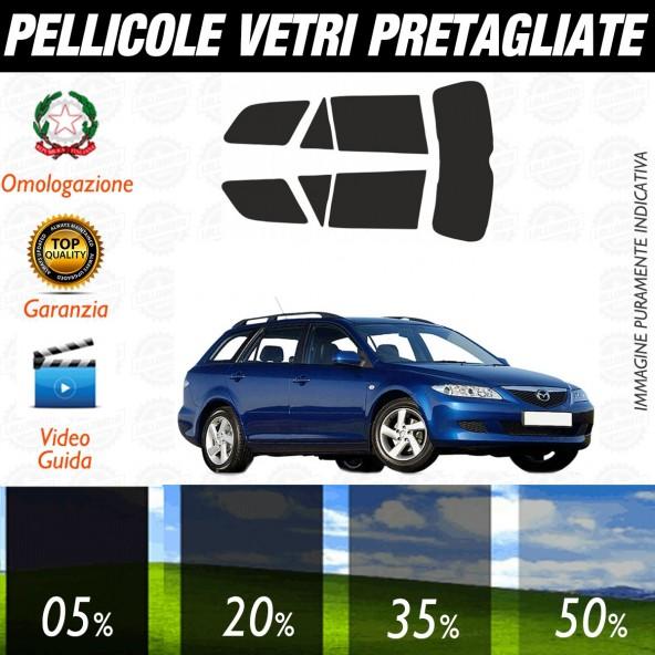 Mazda 6 Sw dal 2002 al 2006 Pellicole Oscuramento Vetri Auto Pre Tagliate a Misura