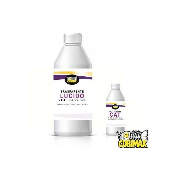 CUBIMAX Trasparente Lucido + Catalizzatore 2K VOC-EASY per Cubicatura e Water Tr