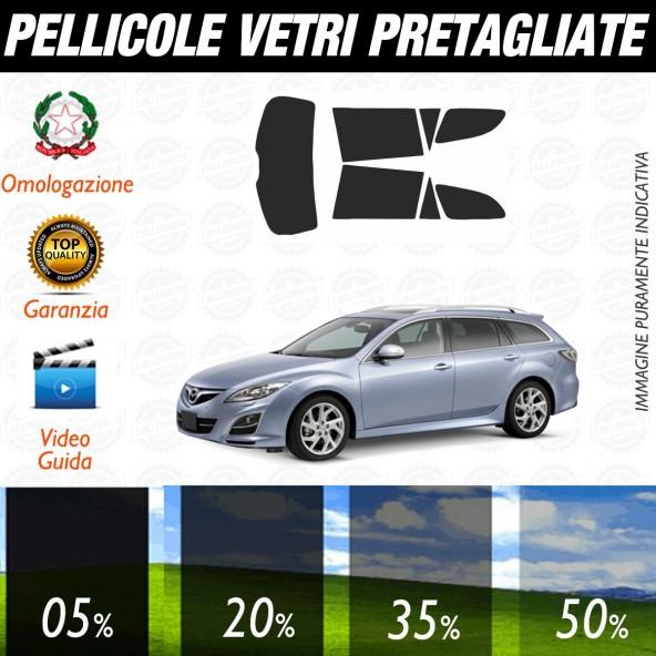 Mazda 6 Sw dal 2008 al 2011 Pellicole Oscuramento Vetri Auto Pre Tagliate a Misura