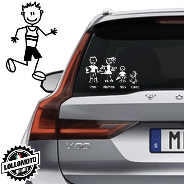 Papà Corridore Vetro Auto Famiglia StickersFamily Stickers Family Decal