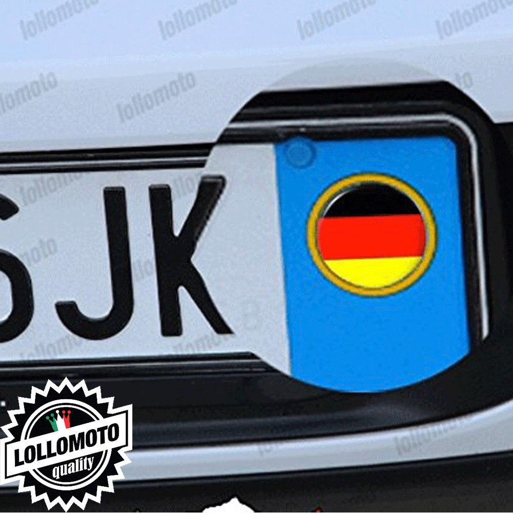 Bandiera Germania 2 Adesivi Logo Emblema Targa Auto Stickers